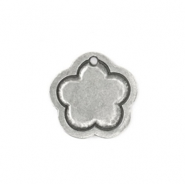 Flower Border Large Pewter
