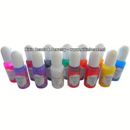 VOORDEELVERPAKKING 13 kleuren Resin Kleurpigment Vloeibaar