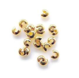 Knijpkraal verberger  Gold Plated 4mm (20st.)