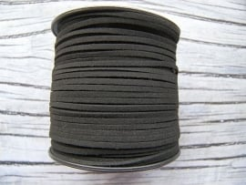 Faux Suede Zwart 3mm