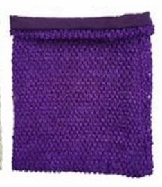 Gehaakte Top GEVOERD Purple M+  (maat 116 t/m 134)
