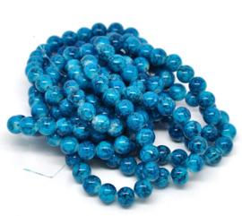 Streng Glaskralen gemeleerd Blauw 10mm