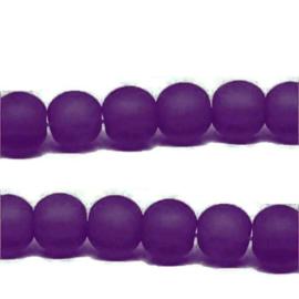 Glaskraal Mat Paars 5mm (per streng)