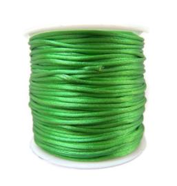 Satijnkoord Groen 1mm dik