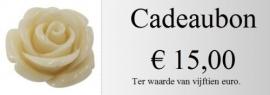 Cadeaubon 15,00 euro