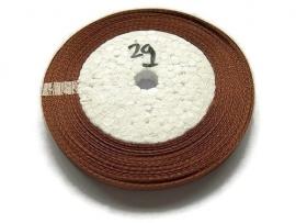 No.29 Bruin Satijnlint 6mm (per rol)