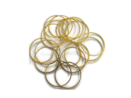 VOORDEELVERPAKKING 20 stuks Ring 3 cm diameter GOUDKLEURIG