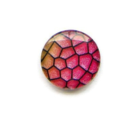 Dragon Skin 007, 25mm Glas Cabochon Rond