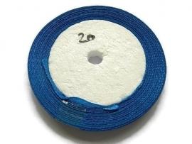 No.20 Blauw Satijnlint 6mm (per rol)