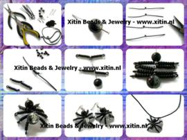Tutorial DIY Halloween Spider Jewelry Set