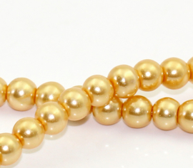 Glasparel  Champagne Gold 6mm (Per streng)