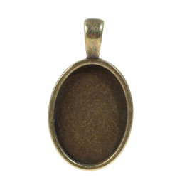 Cabochon hanger Basis 25x18mm Brons