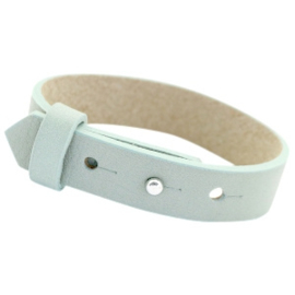 Cuoio Armband Leer 15mm Soft Sky Blue