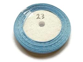 No.23 Licht Blauw Satijnlint 10MM (per rol)