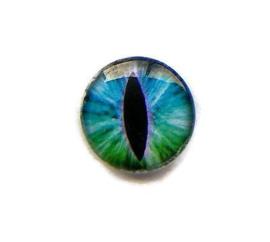 Dragon Eye 011, 25mm Glas Cabochon Rond