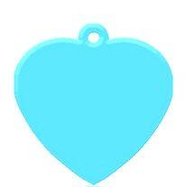 Heart Aqua Blue aluminium