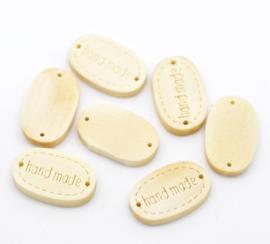 Houten Label / Connector Handmade