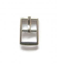 Gesp voor 8mm leer zilverkleur