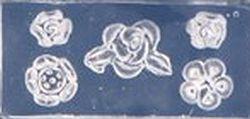 Mini Mal 5 bloemen verschillende Transparant