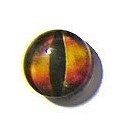 Dragon Eye 005, 12mm Glas Cabochon Rond