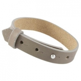 LARGE Cuoio Armband Leer 15mm Taupe