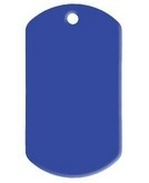 Dogtag Blue aluminium