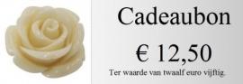 Cadeaubon 12,50 euro