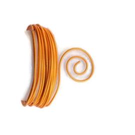 AluDeco Wire 2mm Saffron Orange Embossed (5m)