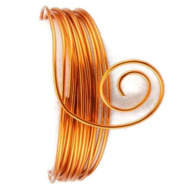 AluDeco Wire 2mm Saffron Orange Round (5m)