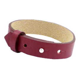 Cuoio Armband Leer 15mm Tawny Port Red
