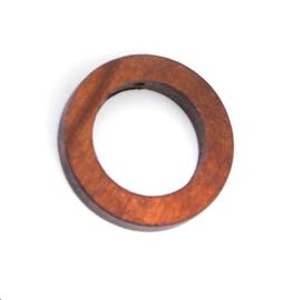 Houten ring met gaatje