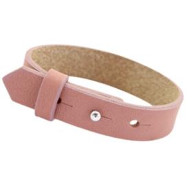 Cuoio Armband Leer 15mm Dark Vintage Pink