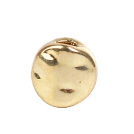 Kraal metaal Rond Plat met golfjes Gold Plated (10 st.)