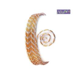 AluDeco Wire 2mm Saffron Orange Diamond Cut (5m)