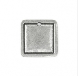 Square Border Large Pewter