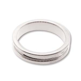 Basisring channel ring 16.7mm Silver Plated Small
