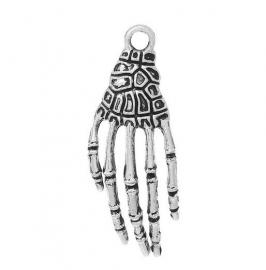 Hanger Skelet Hand Silver Plated