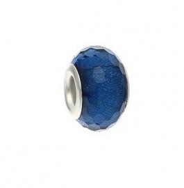 Resin kraal Pandora Style Dark Blue glitter