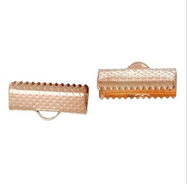 Lintklemmetje Rose Gold Plated 16x8mm