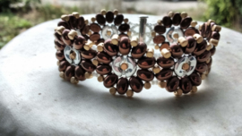 Xitin Flower Bracelet Dark Bronze