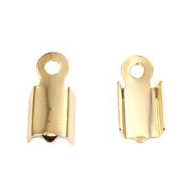 304 RVS Stainless Steel Veterklemmetje Goudkleur (10st)