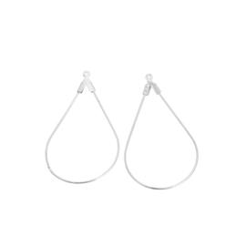 Oorbel hanger geometric drop Silver Plated (2st.)