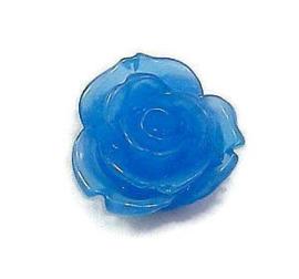 Resin Roosje Blauw 20x20mm