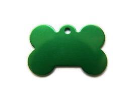 VOORDEELVERPAKKING 15 stuks Tag Dogbone Groen Groot aluminium