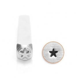 Design stempel Solid Star 3mm ImpressArt