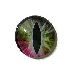 Dragon Eye 024, 25mm Glas Cabochon Rond