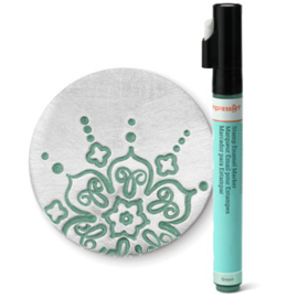 Stamp Enamel Paint Marker Antique Green ImpressArt