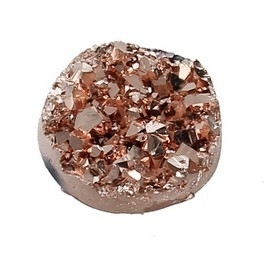 Druzy Resin cabochon rond licht brons 12mm