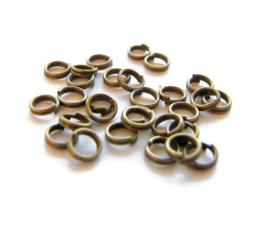 Split ring bronskleur 5mm