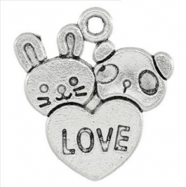 Bedel Love Heart Rabbit & Panda